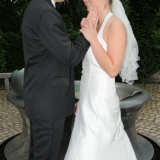 Brudepar ved fontæne