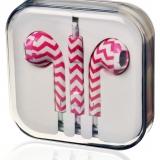 Pink headset i æske